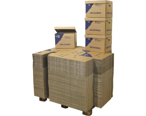 Palette de boîtes d''archives 400x320x300 mm 38 L, 200 pièces-0