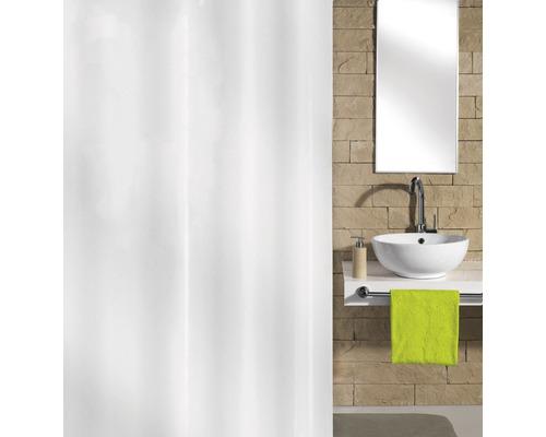 Rideau de douche Kleine Wolke Hool-On blanc textile 180x200cm