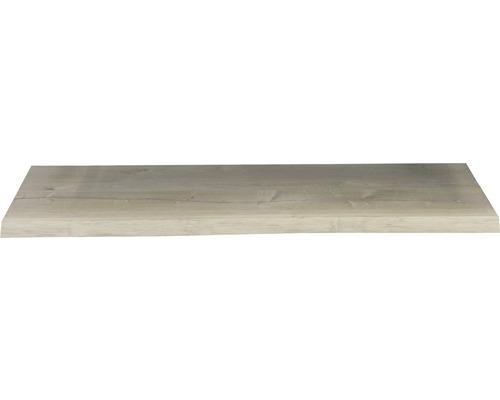 Waschtischplatte Top 140x41 cm Baumkante Schwartenbrett Seite Eiche massiv matt ohne Ausschnitt