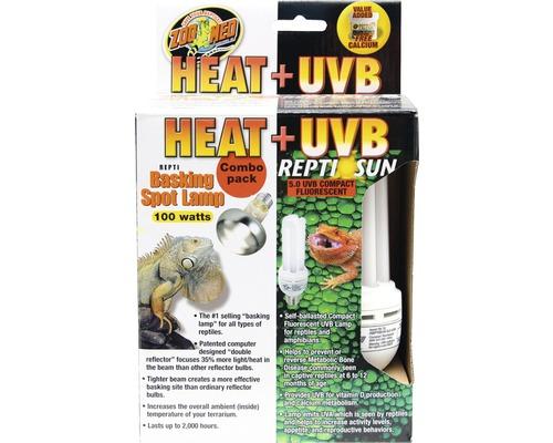 Wärmelampe und Kompaktlampe ZOO MED Heat & UVB Combo Pack