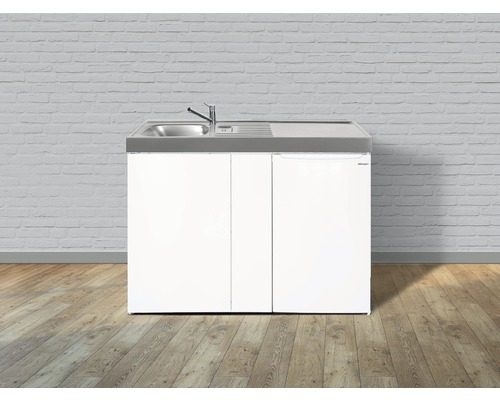 Mini-cuisine stengel Easyline ME100, largeur 100 cm, bac, blanc brillant 1410000006300