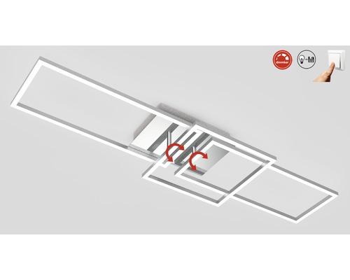 Plafonnier LED à intensité lumineuse variable 1x43,8W 1x3300 lm 3000 K blanc chaud Frames alu/chrome Lxlxh 928/260/96 mm