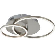 Plafonnier LED à intensité lumineuse variable 1x30W 1x2400 lm 3000 K blanc chaud Frames nickel/mat Lxlxh 390/300/80 mm-thumb-1
