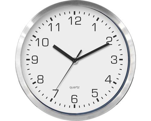 Horloge murale en métal blanche Ø 25 cm