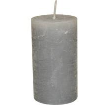 Bougie pilier Ø 6,8 H 12 cm grise-thumb-0