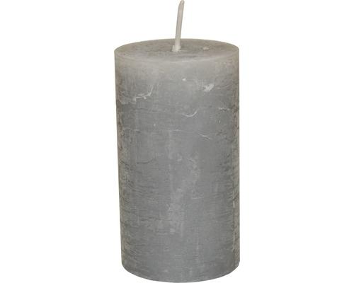 Bougie pilier Ø 6,8 H 12 cm grise-0