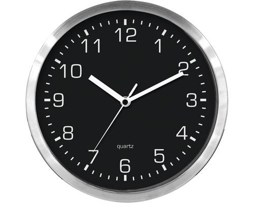 Horloge murale en métal noire Ø 25 cm