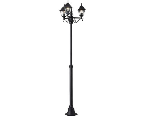 Lampadaire extérieur IP44 3 ampoules hxØ 2000x580 mm Nissi noir candélabre métal