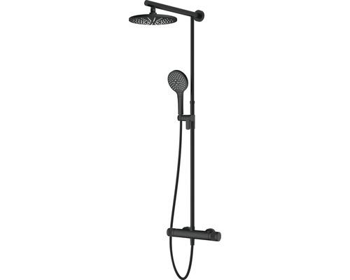 Colonne de douche avec thermostat AVITAL Topino noir mat