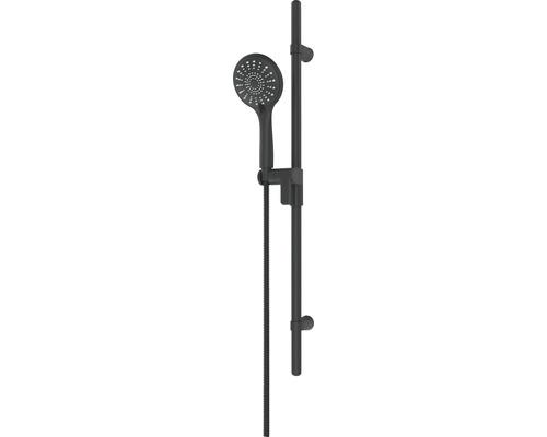 Garniture de douche AVITAL Zilma, mat noir, longueur de la barre de douche 80cm