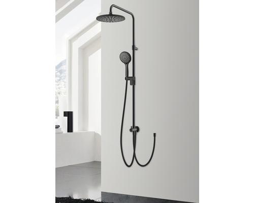 Colonne de douche AVITAL Valouse noir mat avec inverseur