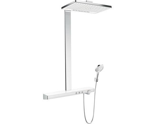 Colonne de douche avec thermostat hansgrohe Rainmaker Select Showerpipe 460 2jet blanc/ chrome 27109400-0