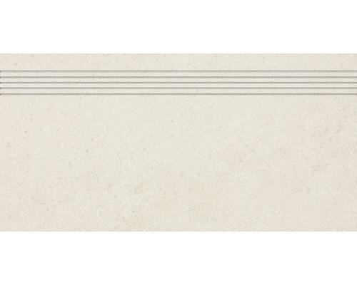 Carrelage d''escalier Udine ivoire non émaillé 30 x 60 cm-0