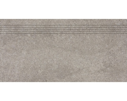 Carrelage d''escalier Udine beige-gris non émaillé 30 x 60 cm