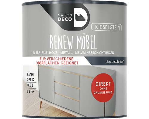Peinture à effets pour meubles satin Maison Deco Renew, galets, 500ml