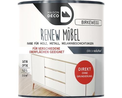 Peinture à effets pour meubles satin Maison Deco Renew, blanc bouleau, 500ml