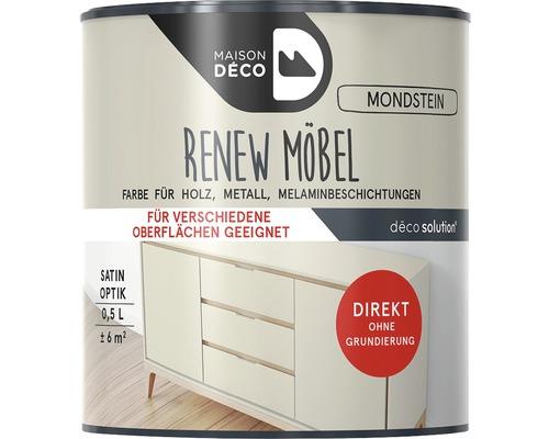 Peinture à effets pour meubles satin Maison Deco Renew, pierre de lune, 500ml