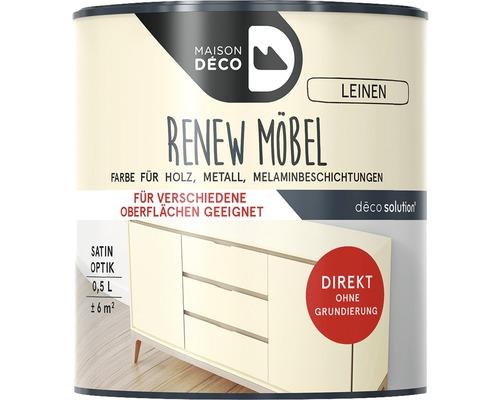 Peinture à effets pour meubles satin Maison Deco Renew, lin, 500ml