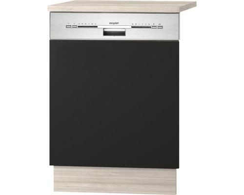 Façade pour lave-vaisselle Faro largeur 59,60 cm anthracite-0
