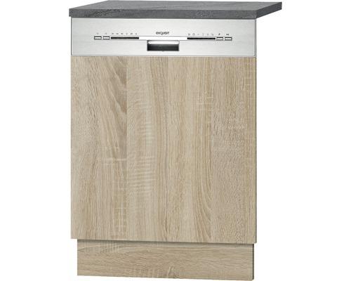 Façade pour lave-vaisselle Neapel largeur 59,60 cm imitation chêne clair brut de sciage