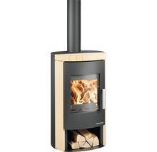Poêle-cheminée Haas & Sohn Bali 296.17-ST noir nacré/Woodstone-thumb-0