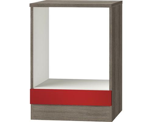 Meuble pour appareils encastrables Imola largeur 60cm rouge