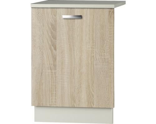 Façade pour lave-vaisselle Padua largeur 59,60 cm imitation chêne clair brut de sciage
