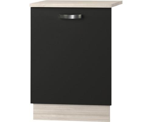 Façade pour lave-vaisselle Faro largeur 59,60 cm anthracite