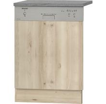 Façade pour lave-vaisselle Elba largeur 59,60 cm imitation hêtre noble-thumb-0