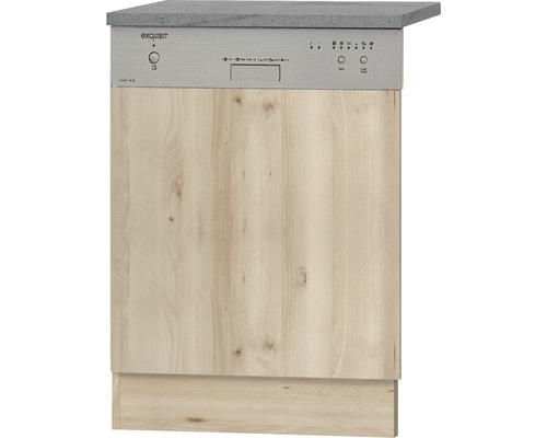 Façade pour lave-vaisselle Elba largeur 59,60 cm imitation hêtre noble-0