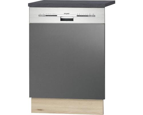 Façade pour lave-vaisselle Udine largeur 59,60 cm anthracite