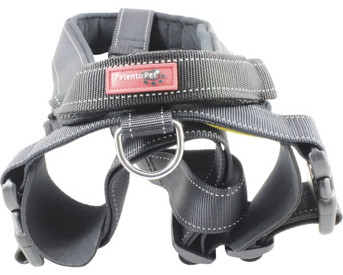 Harnais sport avec laisse intégrée M 58-76cm noir