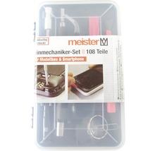 Kit pour mécanique de précision Meister pour smartphones, tablettes, PC, consoles, appareils photos, montres, lunettes 108pces-thumb-0