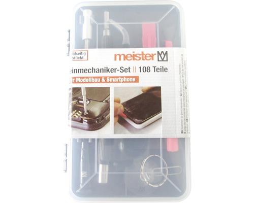 Kit pour mécanique de précision Meister pour smartphones, tablettes, PC, consoles, appareils photos, montres, lunettes 108pces-0
