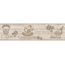Frise papier brun capuccino 5m x 13cm-thumb-0