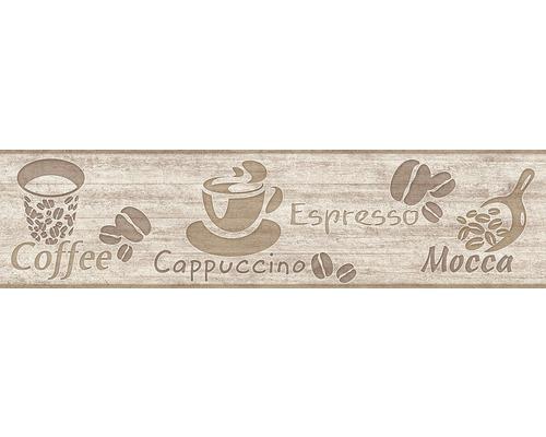 Frise papier brun capuccino 5m x 13cm-0