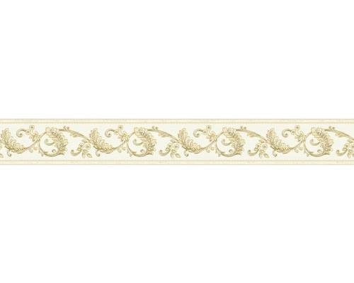 Frise autocollante vinyle ornement crème/or 5m x 8cm-0
