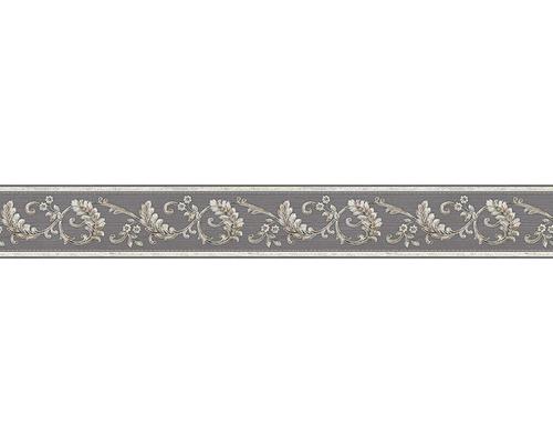 Frise vinyle autocollante Ornement gris-marron/or 5m x 8cm