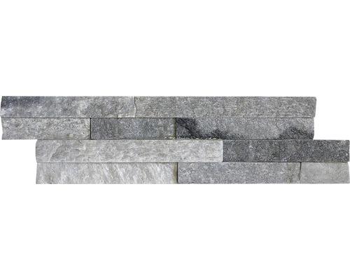 Pierre de parement Alpina Z40/10 blanc/gris 10x40cm