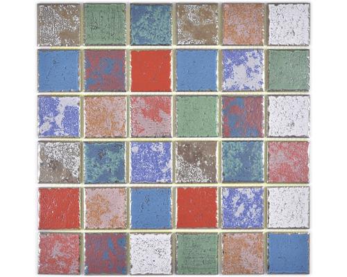 Mosaïque en céramique CD CUBIS Quadrat Orient Color Mix