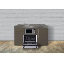 Mini-cuisine Stengel largeur 150 cm MPGSM150-KS bac à droite mocca métallique-thumb-0