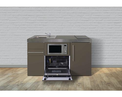 Mini-cuisine Stengel largeur 150 cm MPGSM150-KS bac à droite mocca métallique-0