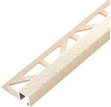 Profilé de finition Dural Squareline 11mm longueur 250cm aluminium beige-thumb-0