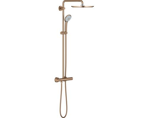 Colonne de douche avec thermostat GROHE système Euphoria 310 warm sunset brossé 26075DL0-0