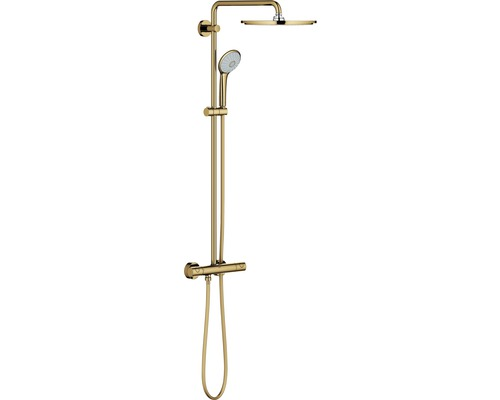 Colonne de douche avec thermostat GROHE système Euphoria 310 cool sunrise poli 26075GL0-0