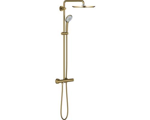 Colonne de douche avec thermostat GROHE système Euphoria 310 cool sunrise brossé 26075GN0-0