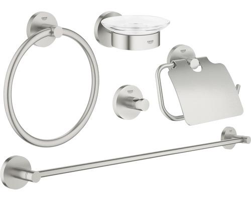 Kit de bain Grohe Essentials Master 5 en 1 supersteel 40344DC1