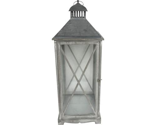 Lanterne bois métal H65cm