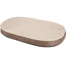 Matelas mousse à mémoire de forme ovale 100x65cm beige-thumb-0