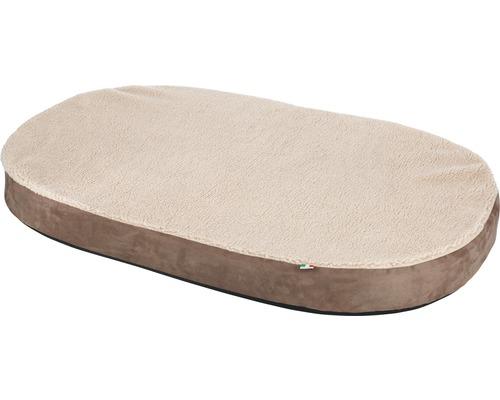 Matelas mousse à mémoire de forme ovale 100x65cm beige-0